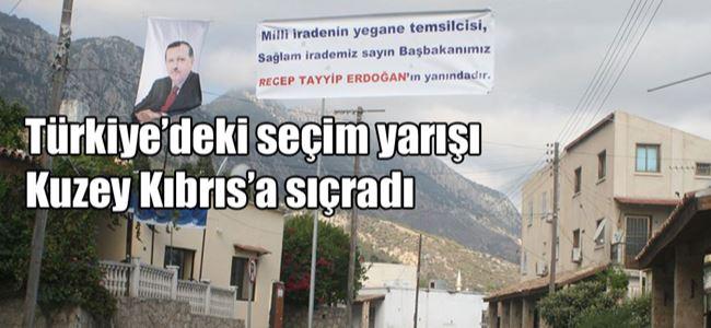 Lapta ve Alsancak'a 'Erdoğan' pankartı