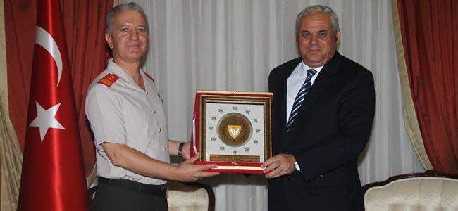 Yorgancıoğlu, komutanları kabul etti