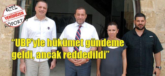 Serdar Denktaş, YENİDÜZEN ekibiyle buluştu