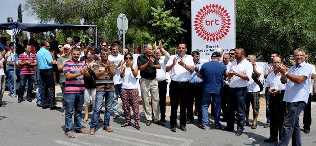 BAY-SEN BRT önünde eylem yaptı