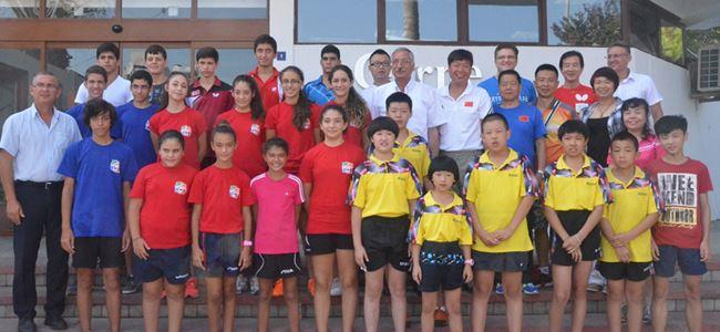 Güngördü, Çinli masa tenisçilerini kabul etti