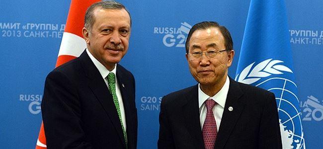 Erdoğan Ban Ki-Moon ile görüştü
