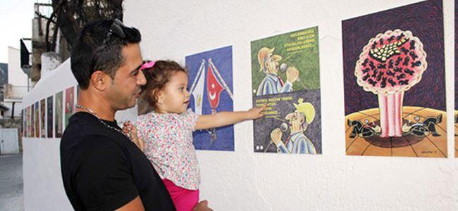 Musa Kayra 26. Kişisel Karikatür Sergisini açtı
