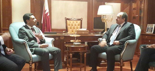 Nami, Katar Dışişleri Bakanı ile görüştü