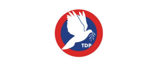 """TDP: """"Müzakereler bir an önce başlamalı"""""""