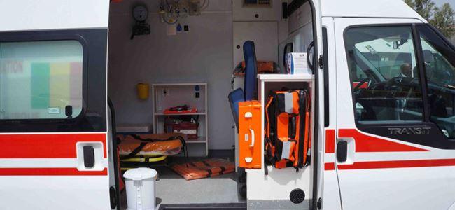 Ambulansta SOYGUN ve ŞİDDET