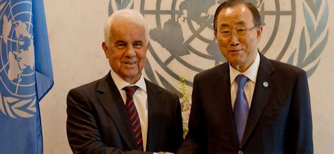 Eroğlu Ban Ki-Moon'a mektup gönderdi