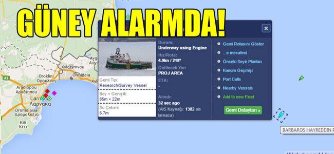 Türkiye gemisi Kıbrıs açıklarında