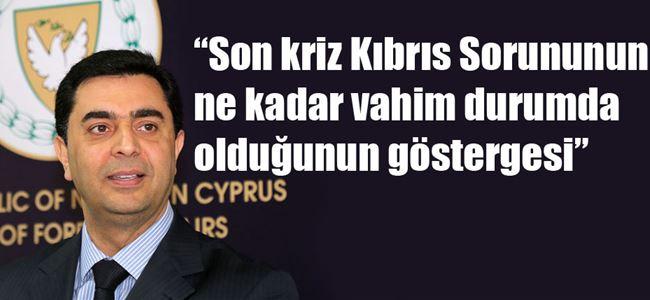 Dışişleri Bakanı Nami Kıbrıs Sorununu değerlendirdi