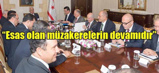 Siyasi partiler Eroğlu ile bir araya geldi