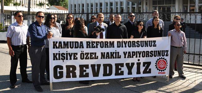 KTAMS Başbakanlık önünde basın açıklaması yaptı