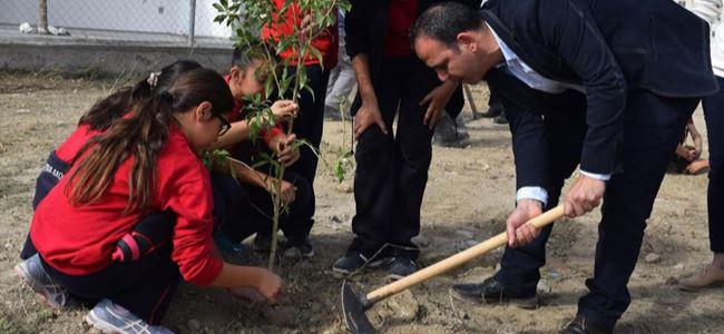 Ağaçlandırma çocuklarla başladı