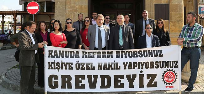 Atama KHK önünde protesto edildi