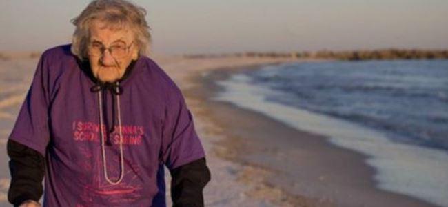Yüz yaşında denizi gördü
