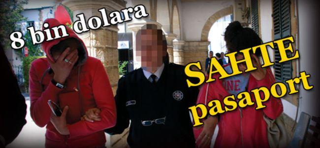 Sahte pasaportla yakalandılar
