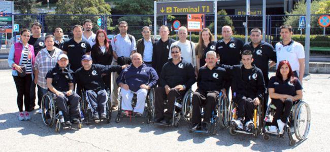KKTCELL Tekerlekli Sandalye Basketbol Takımı İspanya'da