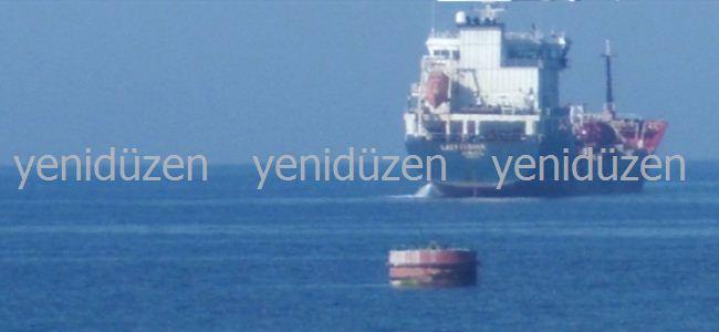 Akaryakıt getiren gemiye el konuldu