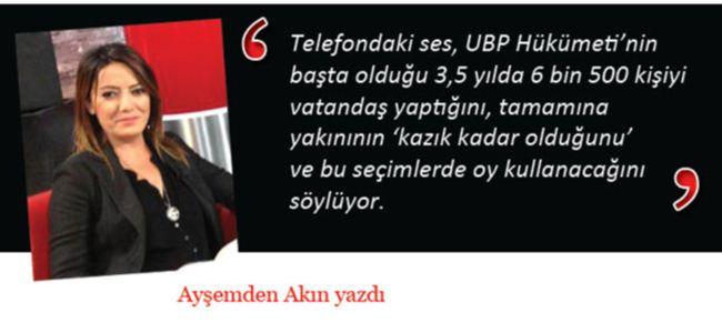 UBP giderayak ve irade mührü!