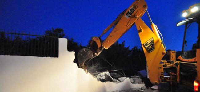 Girne'de 'duvar krizi' çözüldü…