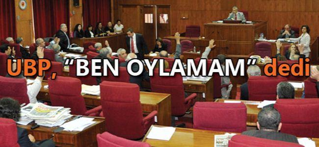 UBP, meclisi terk etti