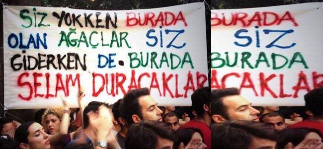 Gezi Parkı direnişine Kıbrıstan destek