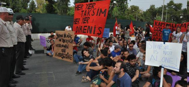 Polis elçilik önüne izin vermedi!