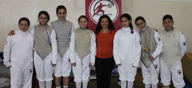 Eskrimde ortaokullar yarıştı