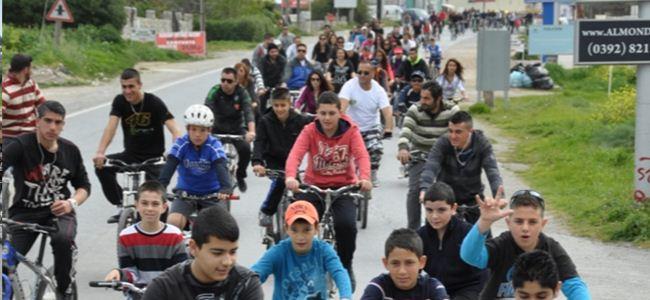 Lapta-Karşıyaka arasında 277 pedal döndü