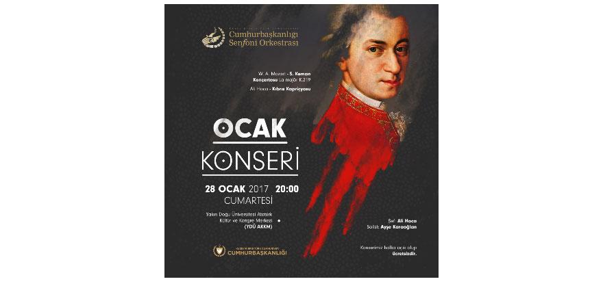 İlk konser 28 Ocak'ta