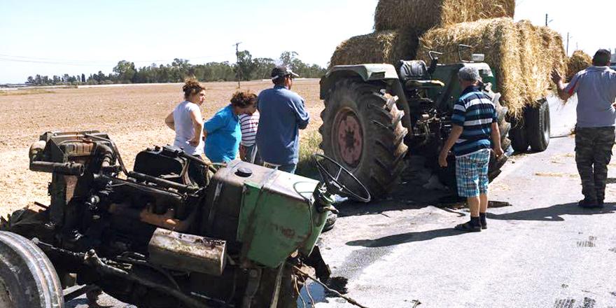 Traktör ikiye bölündü