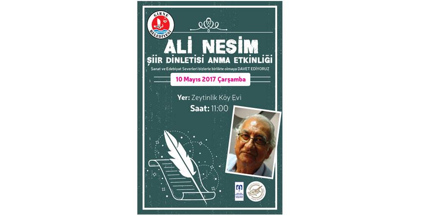 Yazar Ali Nesim anılacak