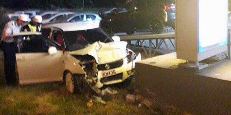 Trafik kazasında bir kişi yaralandı