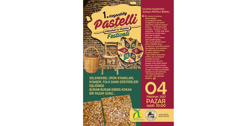 Kozanköy Pastelli Festivali bugün yapılıyor