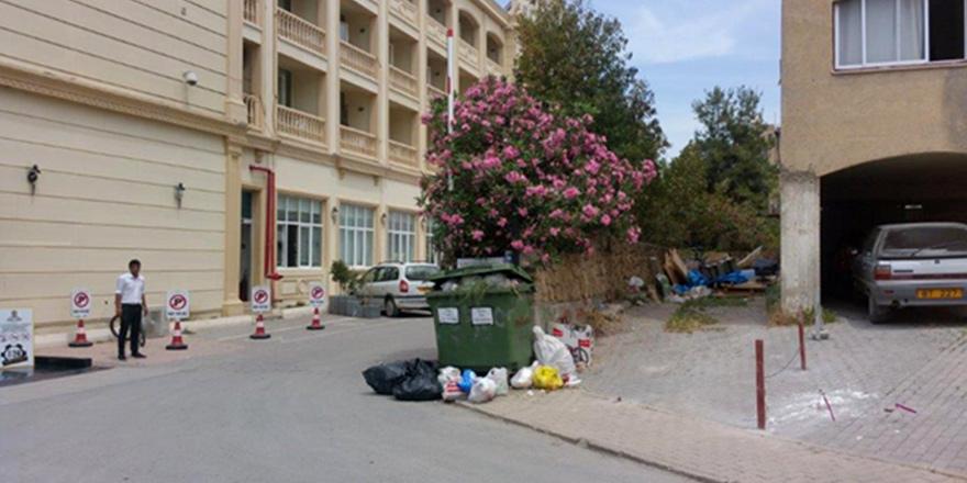 Çöpler rahatsızlık yarattı