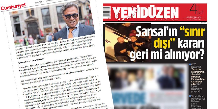 YENİDÜZEN'in haberi Cumhuriyet'e konu oldu