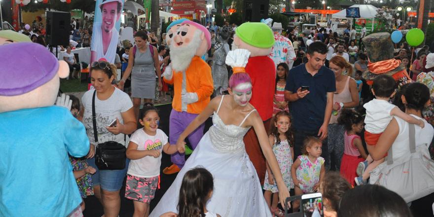 Güzelyurt Portakal Festivali'nde çocuklar 'şenlendi'