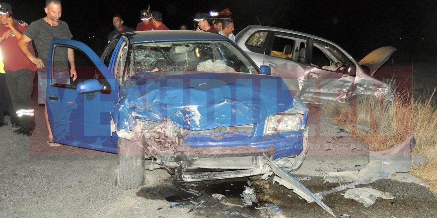 Yeniceköy kavşağında kaza