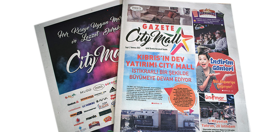 Gazete City Mall yayında