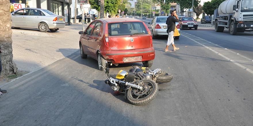 Motor kazasında 1 yaralı