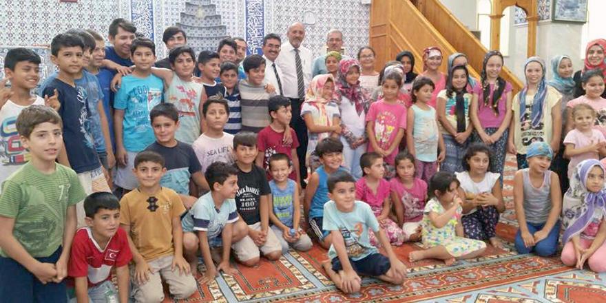 Cami'de dini bilgiler kursu ziyareti!