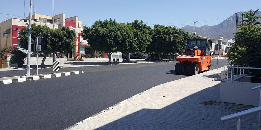 Girne'de asfaltlandırma çalışmaları sona erdi