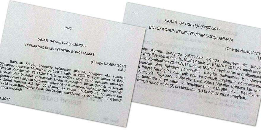 2 belediyeye borçlanma yetkisi