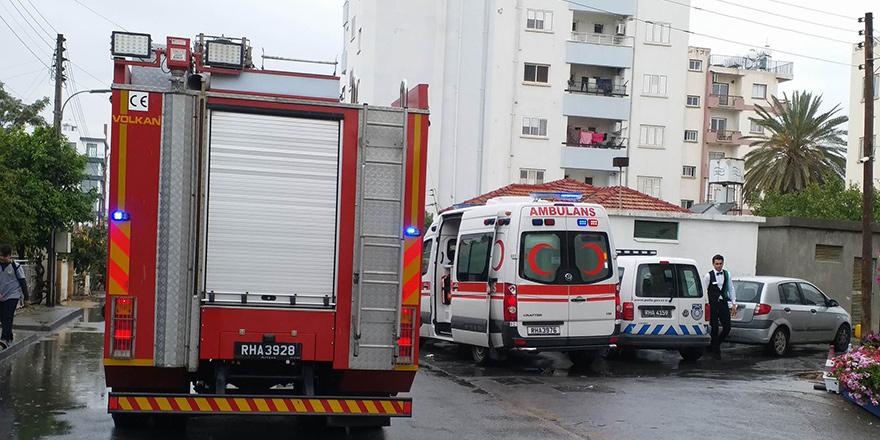Lefkoşa'da yangın: 3 kişi dumandan etkilendi