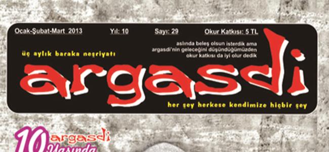 """ARGASDİ""NİN 29. SAYISI ÇIKTI"