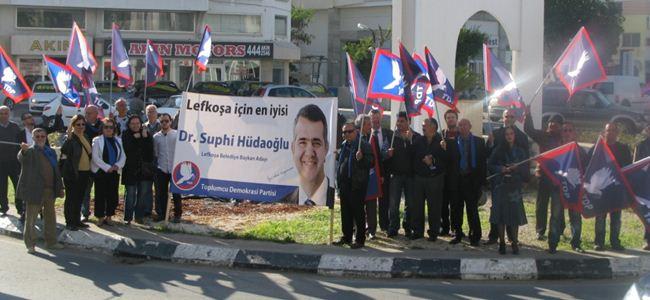 TDP, kavşak eylemi gerçekleştirdi