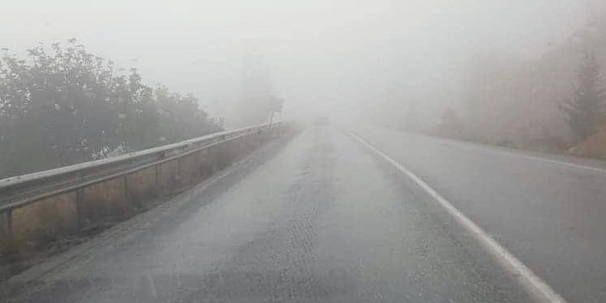 Dağyolu'nda sis, görüş mesafesi azaldı