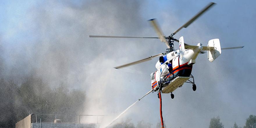 Baf'a yangın helikopterleri geldi