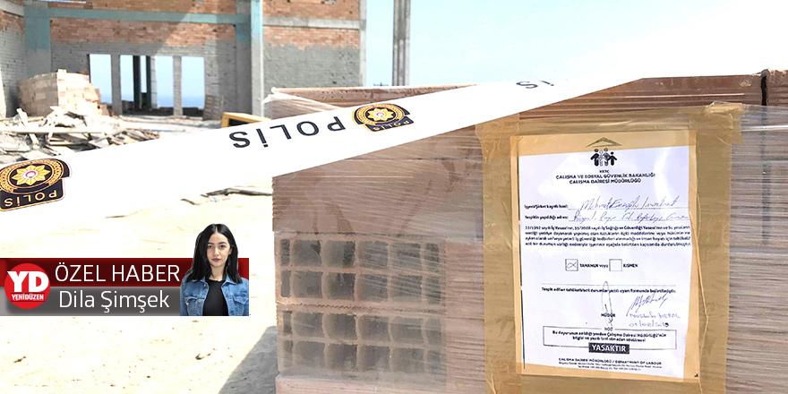Tavan çöktü, 1 işçi öldü, inşaat durdu