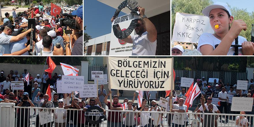 Karpaz eylemi Lefkoşa'ya taşındı
