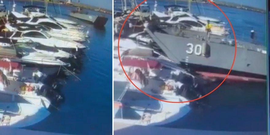 'Çıkarma gemisi' özel teknelere çarptı!
